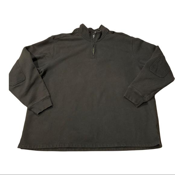 Eddie Bauer 1/4 Zip Pullover Elbow Patches 3XL